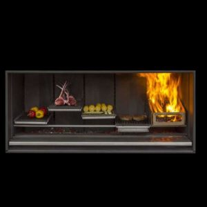 Escea EK1550 Outdoor Wood Fireplace Kitchen