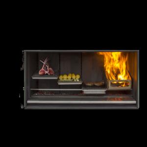 Escea EK1250 Outdoor Wood Fireplace Kitchen